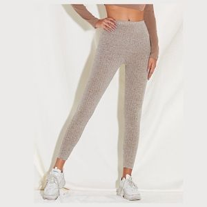 Shein | NWT Wide Waistband Ribbed Ankle Leggings